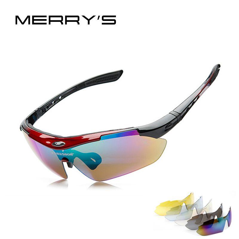 MERRY'S Men Sun glasses Mountain Protection Goggles Eyewear 5 Lens