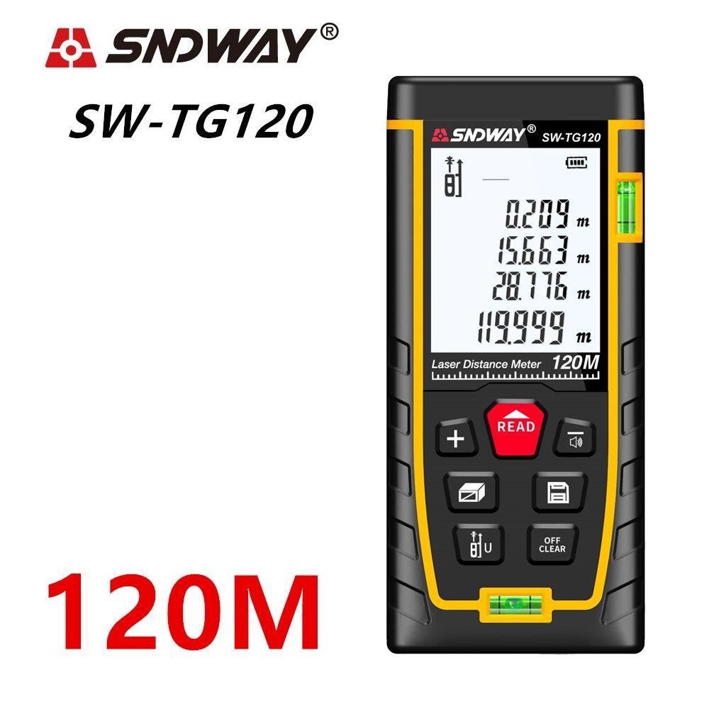 SNDWAY Laser Distance Meter 120m 100m 70m 50m Laser Range Finder rangefinder metro trena laser tape measure ruler Roulette tool