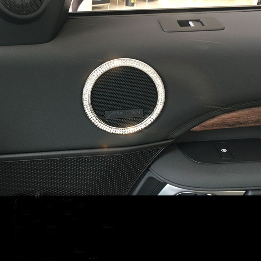 4pcs Door Speaker Trim Car Sticker For Range Rover Sport For Range Rover Vogue 2014-2017 Accessories Car Styling
