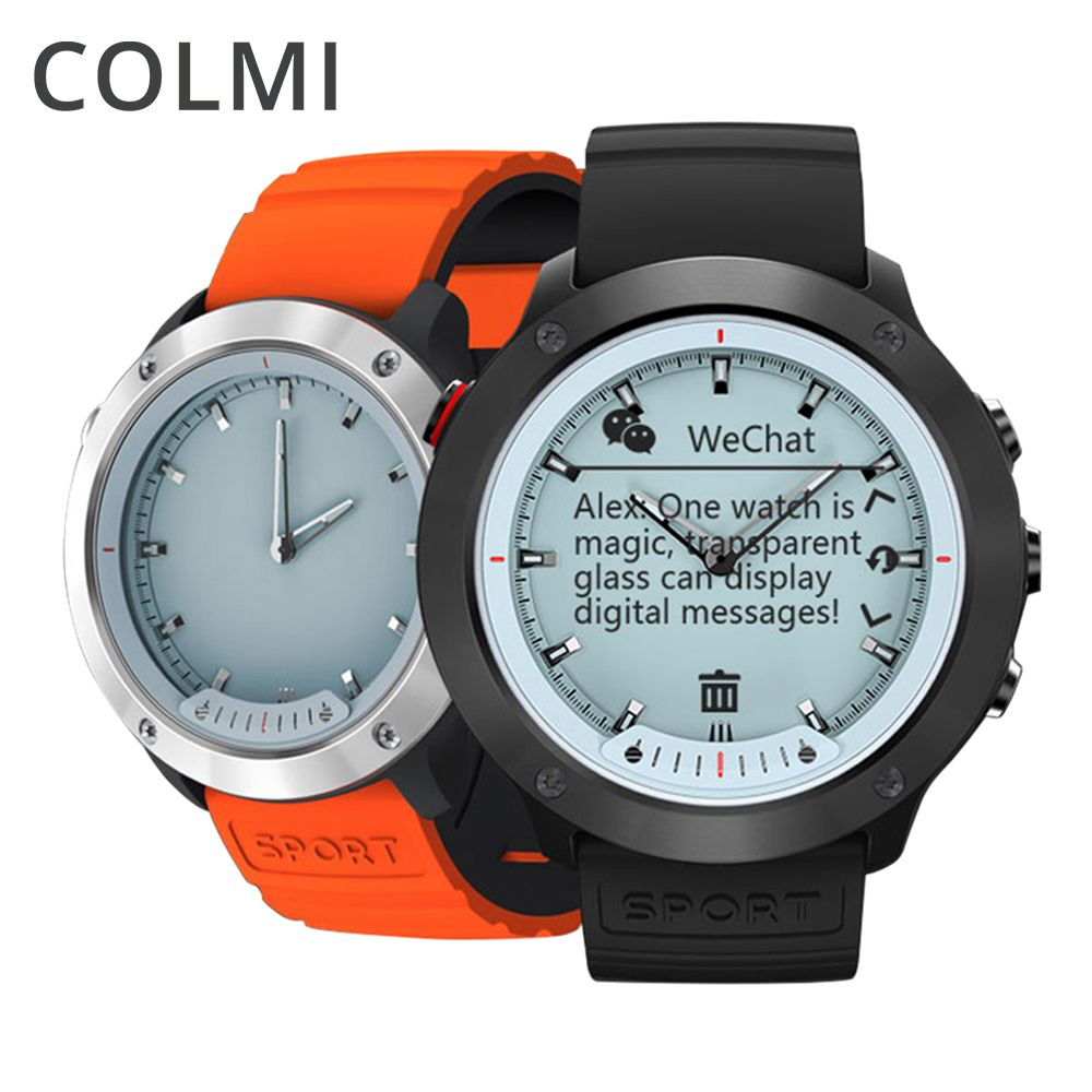 COLMI M5 Transparent Screen Smart Watch Men IP68 Waterproof Heart Rate Monitor Stainless Steel Clock Smartwatch For IOS Android