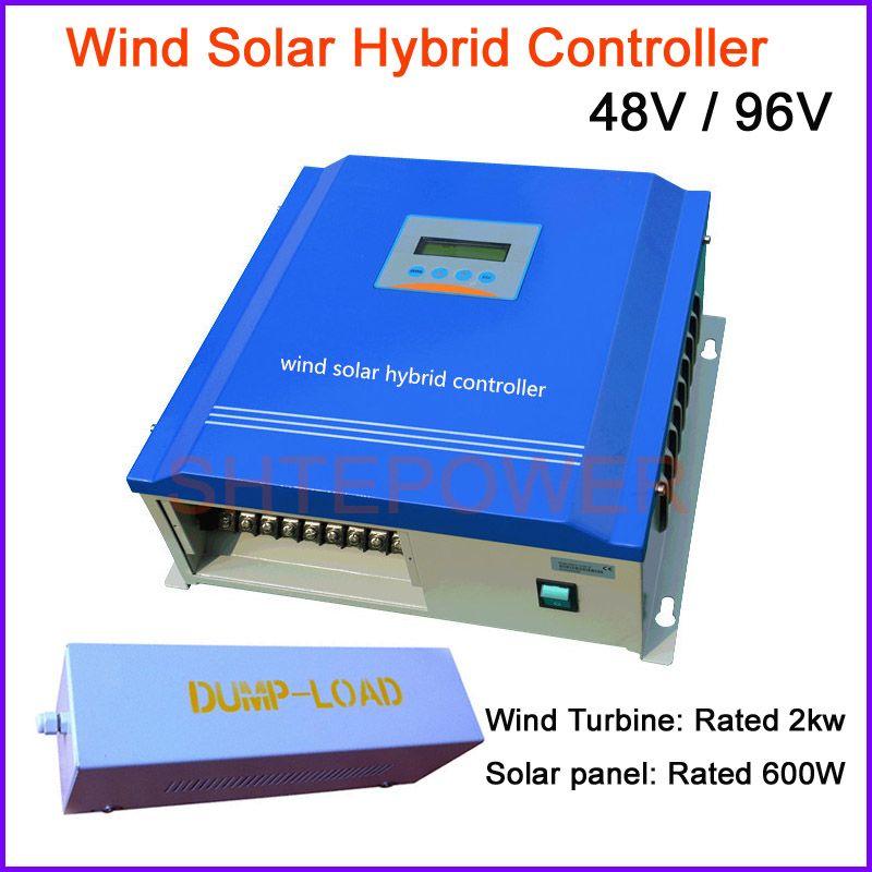 48 v 96 v 2000 watt 2kw Wind Solar-hybrid-steuergerät Mit Dump-Last, PWM controller mit dump lastwiderstand