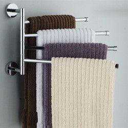 Нержавеющая сталь полотенца бар вращающаяся стойка для полотенец Ванная комната Кухня настенный полотенца полированная стойка держатель ...