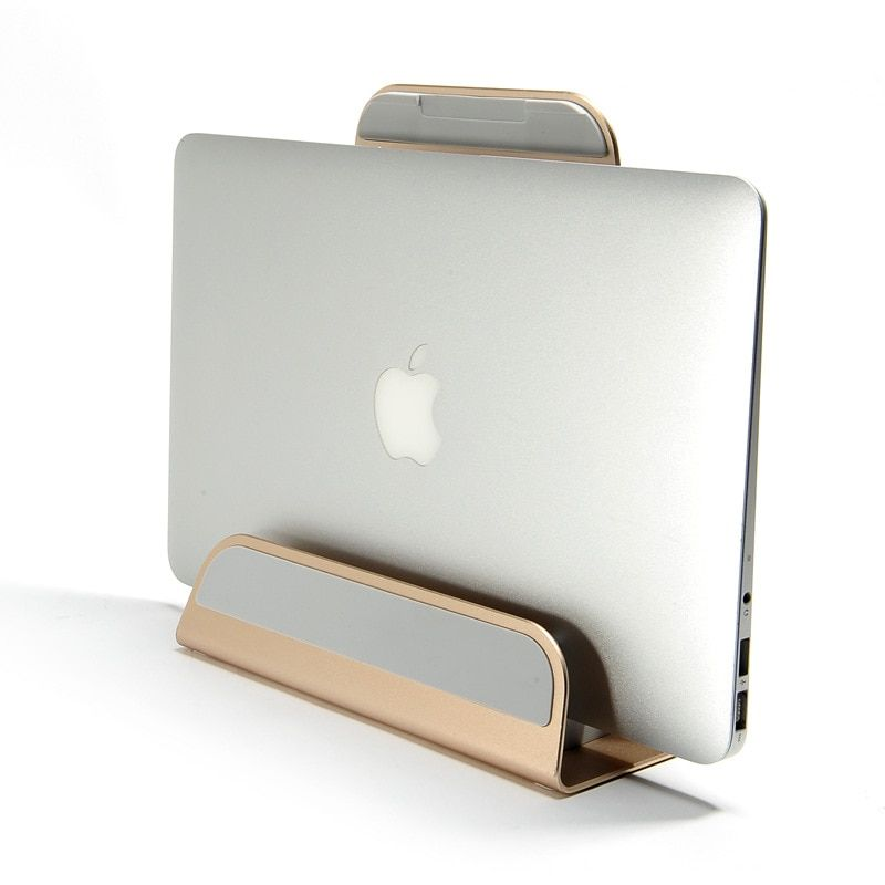 2 In 1 Function Aluminum Alloy Firm Bracket for Macbook Air Pro Retina 11 12 13 15 Vertical Base Stand for <font><b>IPAD</b></font> PC Cooling Stand
