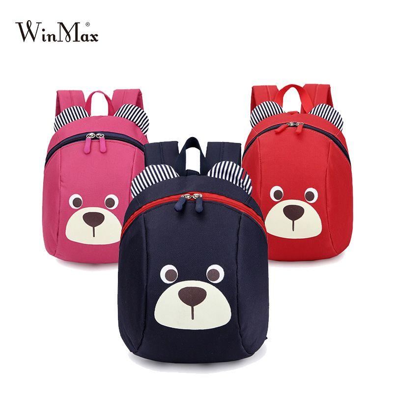 Âge 1-3 enfant en bas âge sac à dos Anti-perte enfants bébé sac mignon animal chien enfants sac à dos maternelle ours sac d'école mochila escolar