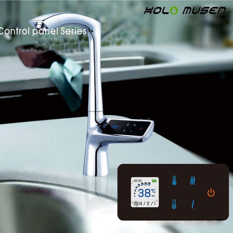 2 Jahre Garantie Luxus LCD Display Touchscreen Smart Thermostat Waschbecken Wasserhahn Elektrische Mischbatterie Digitale Thermostat Wasserhahn