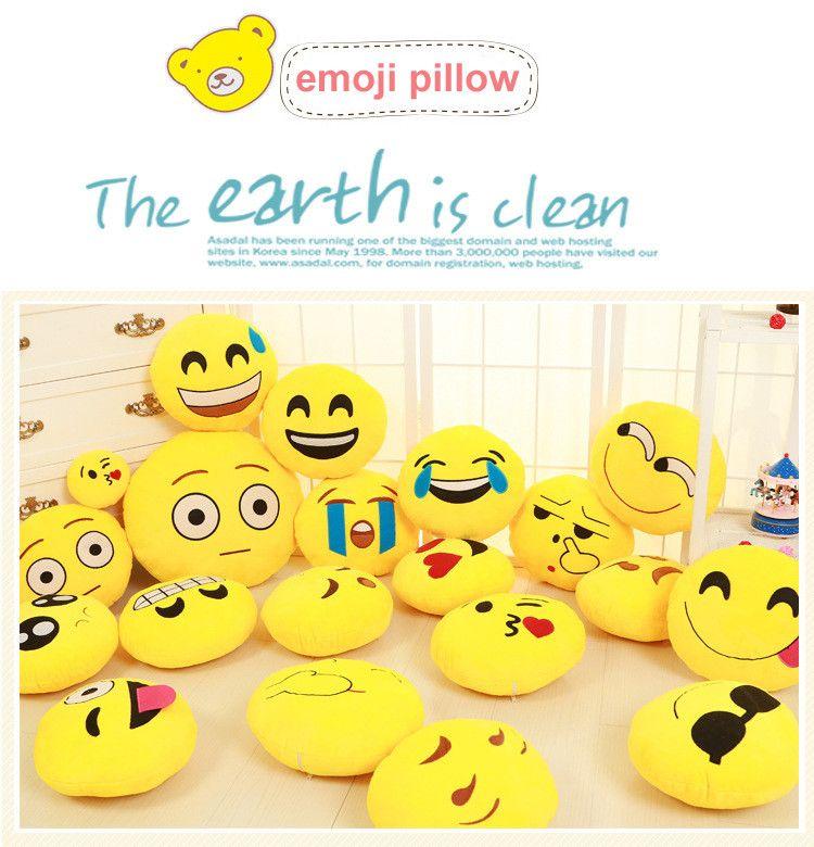 Забавные милые emoji Подушки детские плюшевые игрушки coussin cojines emoji Gato эмоции Подушки emoticonos смайлик Подушки плюша almofada