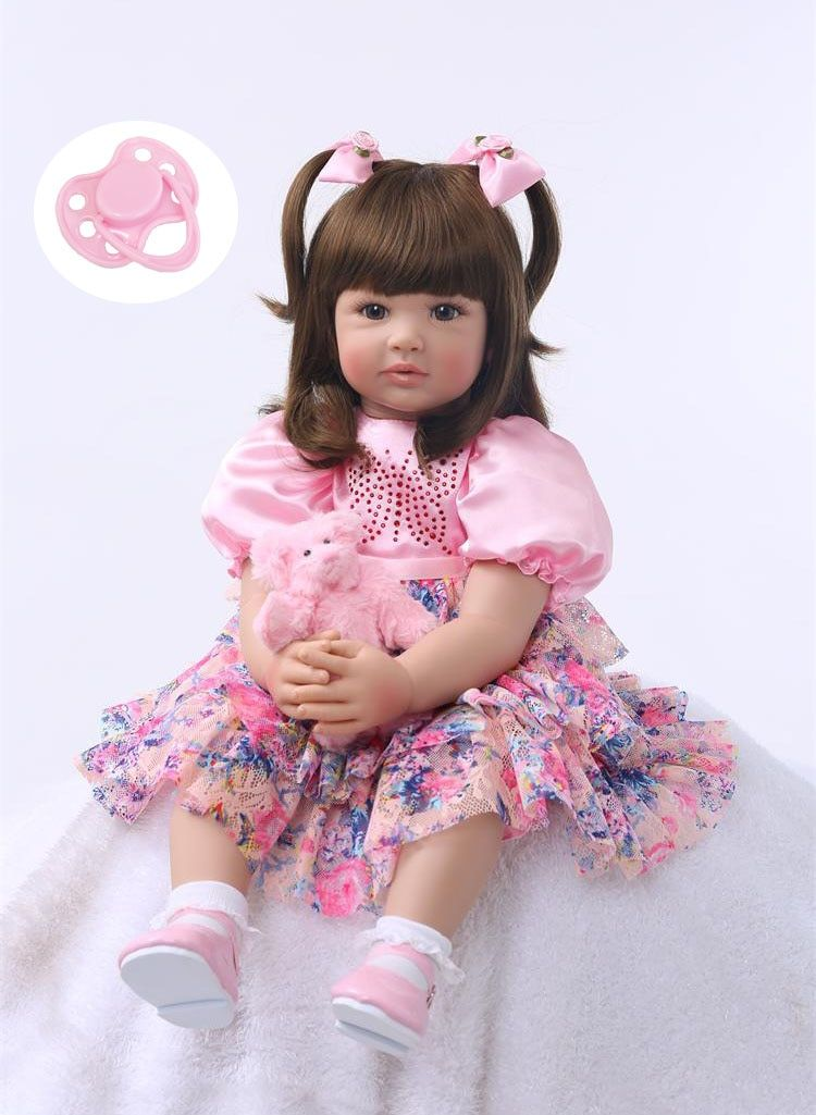Silicone Reborn Baby Doll Toys 60cm Princess Toddler Babies Like Alive Bebe Girls Brinquedos Limited Collection Birthday Gift