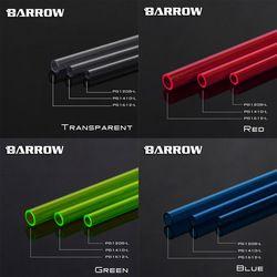 Brouette Transparent/Rouge/Bleu/Vert Haute Qualité PETG 500mm 12*8/14*10/16*12mm D'eau De Refroidissement Dur Tubes, 1 lot pour 2 pcs tubes
