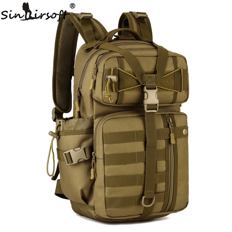 Outdoor Tactical Backpack 900D Waterproof Army Shoulder Military <font><b>Hunting</b></font> Camping Multi-purpose Molle Hiking Travel Sport Bag 30L