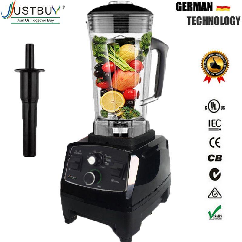 BPA Freie Kommerzielle Grade Timer Mixer Mixer Heavy Duty Automatische Obst Entsafter Küchenmaschine Eis Brecher Smoothies 2200W