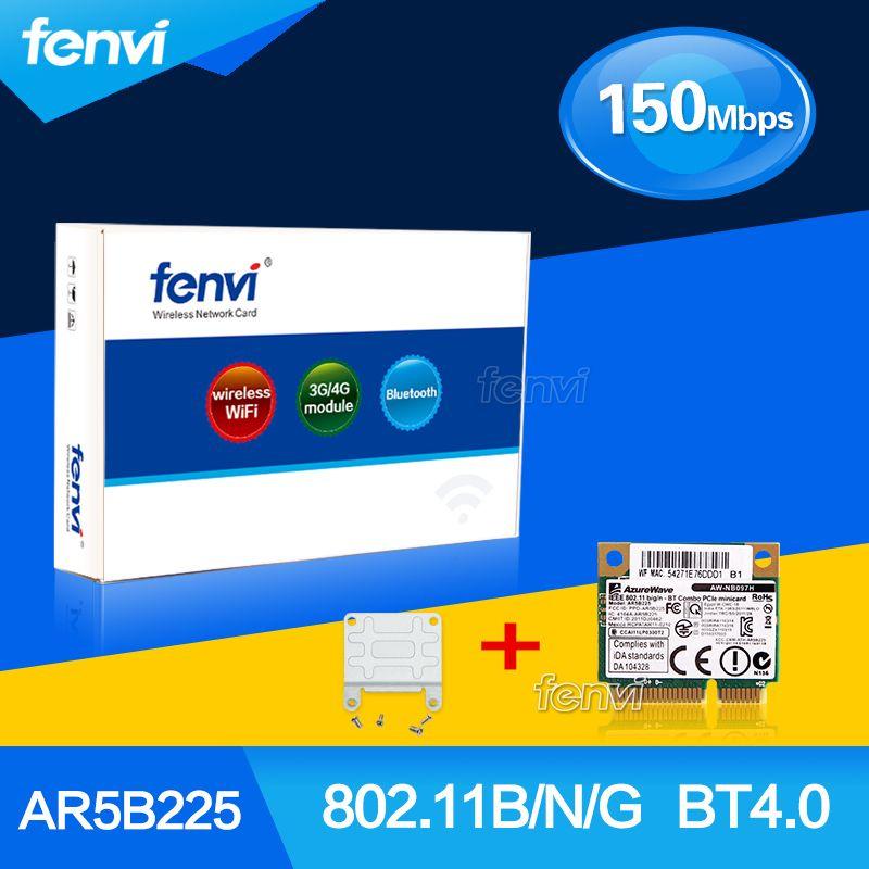 Nouveau Atheros AR5B225 WIFI Sans Fil Bluetooth BT 4.0 Demi MINI PCI-E Carte Mieux que 1030 6235 6230 150 M Ordinateur Portable Réseau adaptateur