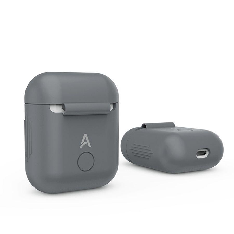 Gris Étui En Silicone pour Apple Airpods Air Gousses Housse De Protection Pochette Anti Perdu Protecteur Élégant Manches Fundas Accessoires