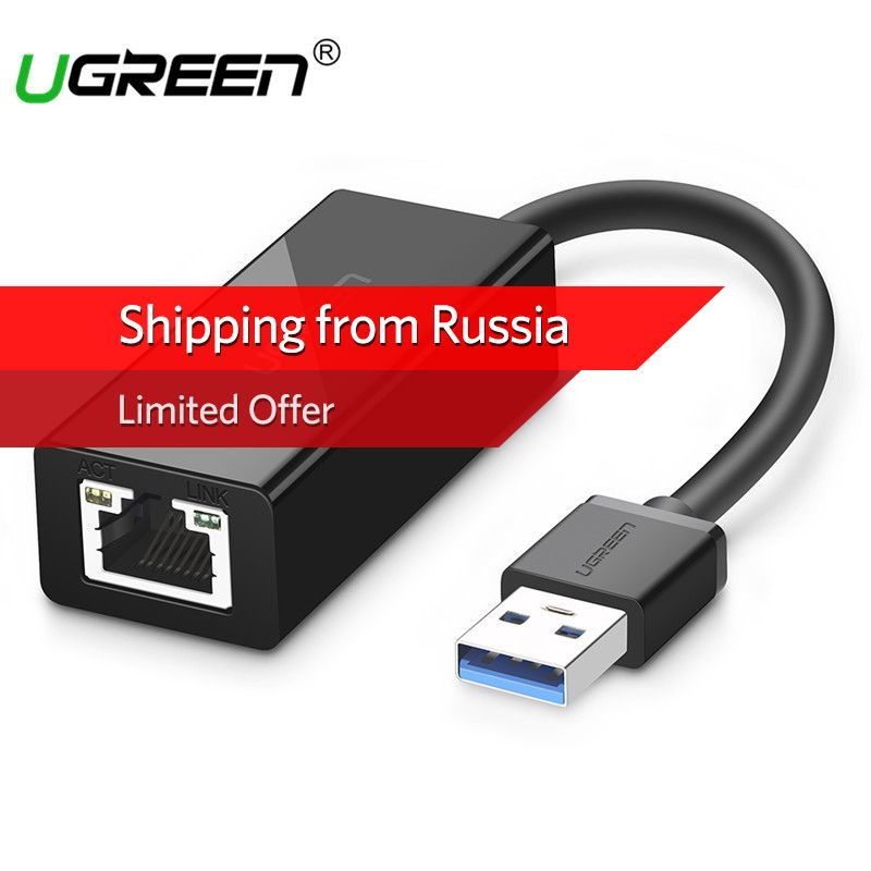 Ugreen USB 3.0 Ethernet Adapter for Xiaomi Mi Box 3 Android TV Nintend Switch USB to RJ45 Lan Network Card USB Ethernet