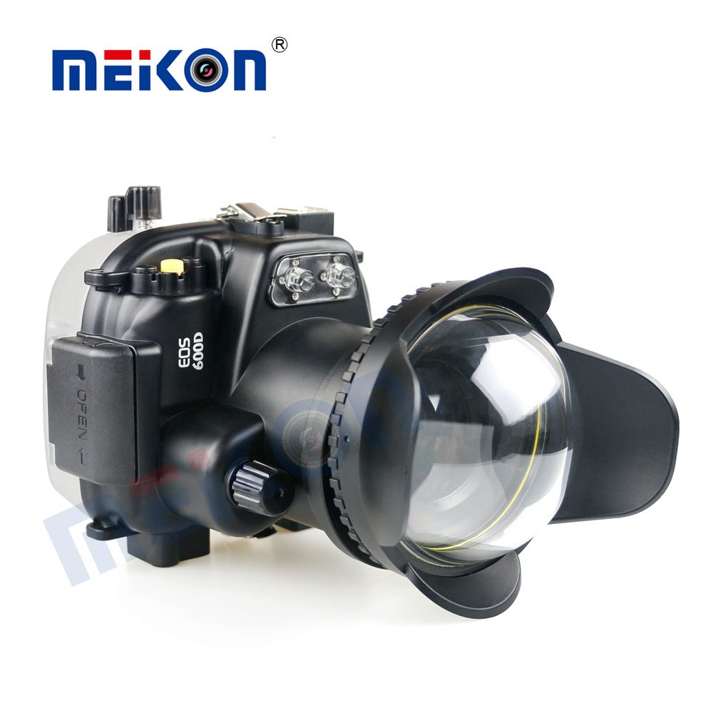 Waterproof Underwater Camera Housing Case Cover Bag for Canon EOS 600D +Two Hands Tray +67mm Dome Port Fisheye
