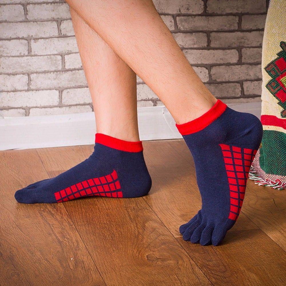 Frau männer Socken Warme Turnschuhe Socken Fünf Kappe Baumwolle Socken Reine Sport Trainer Laufschuhe Finger Atmungsaktive Socken