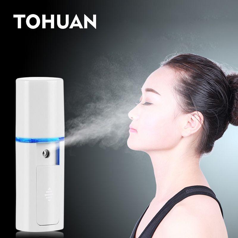 Mini Gesicht Dampfer Nano Mister USB Wiederaufladbare Gesichts Sprayer Schönheit Sauna Feuchtigkeitsspendende Tragbare Ultraschall-luftbefeuchter Hautpflege