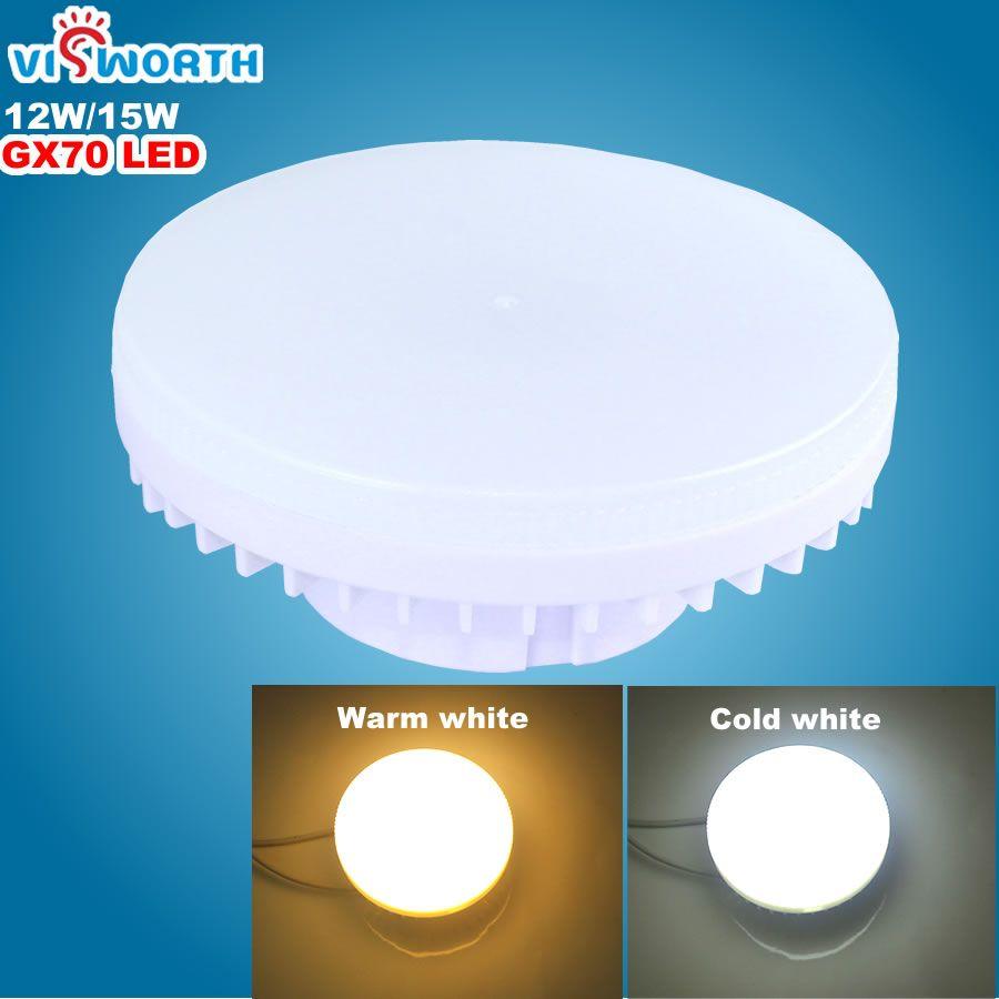 [VisWorth]GX70 Led Lamp 12W 15W Smd2835 45Pcs Leds Light AC 110V 220V 240V Spotlight Warm Cold White Led Bulbs For Living Room