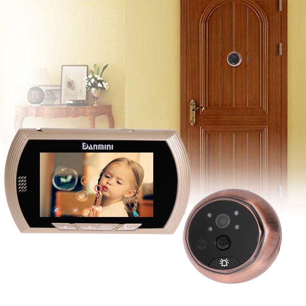 4.3 inch Color LCD Screen Digital Door Viewer Peephole Camera Door Eye Video Record Doorbell Viewer 160 Degrees Night Vision