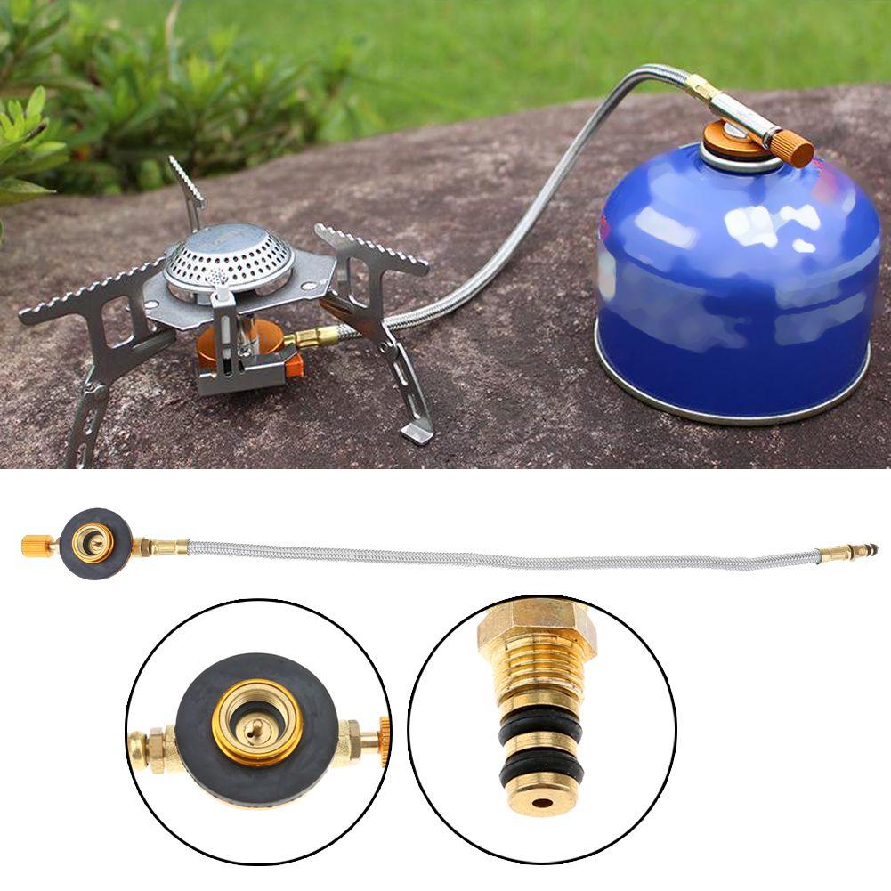Geflochten Schlauch Outdoor Gasherd Brenner Ofen Stecker Gas Tank Adapter Ventil für Outdoor Camping Kochen Ausrüstung Neue