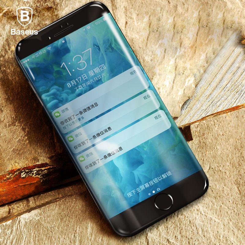 Baseus 3D En Verre Trempé Pour iPhone 6 6 s 7 8 Écran Protecteur 0.23mm lutte contre la Lumière Bleue En Verre Pour iPhone 6 Plus 7 Plus 8 Plus Film