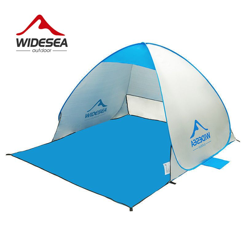2017 new beach tent pop up open 1-2person sunshelter quick automatic 90% UV-protective awning tent for camping fishing sunshade