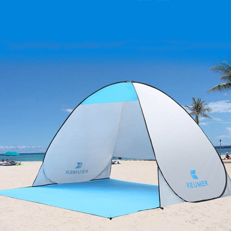 Automatic Beach <font><b>Tent</b></font> UV Protection Pop up <font><b>Tent</b></font> Sun Shade Awning with Mat