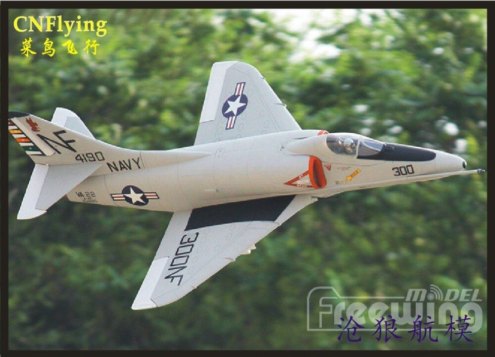 Freewing NEUE Elektrische rc jet A-4E/F SKYHAWK flugzeug 80mm metall edf flugzeug 6 s PNP oder kit versenkbare flugzeug/RC MODELL HOBBY