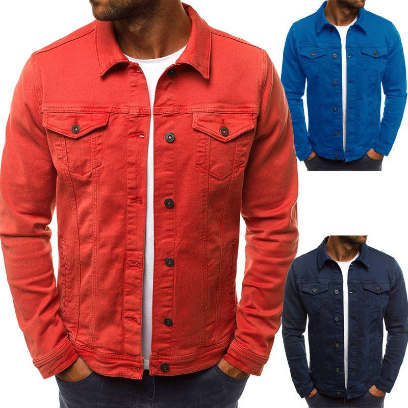 2018 Men'S Denim Jacket High Quality Fashion Jeans Jackets Slim Fit Casual Streetwear Vintage Mens Jean Clothing Plus Size M-3XL