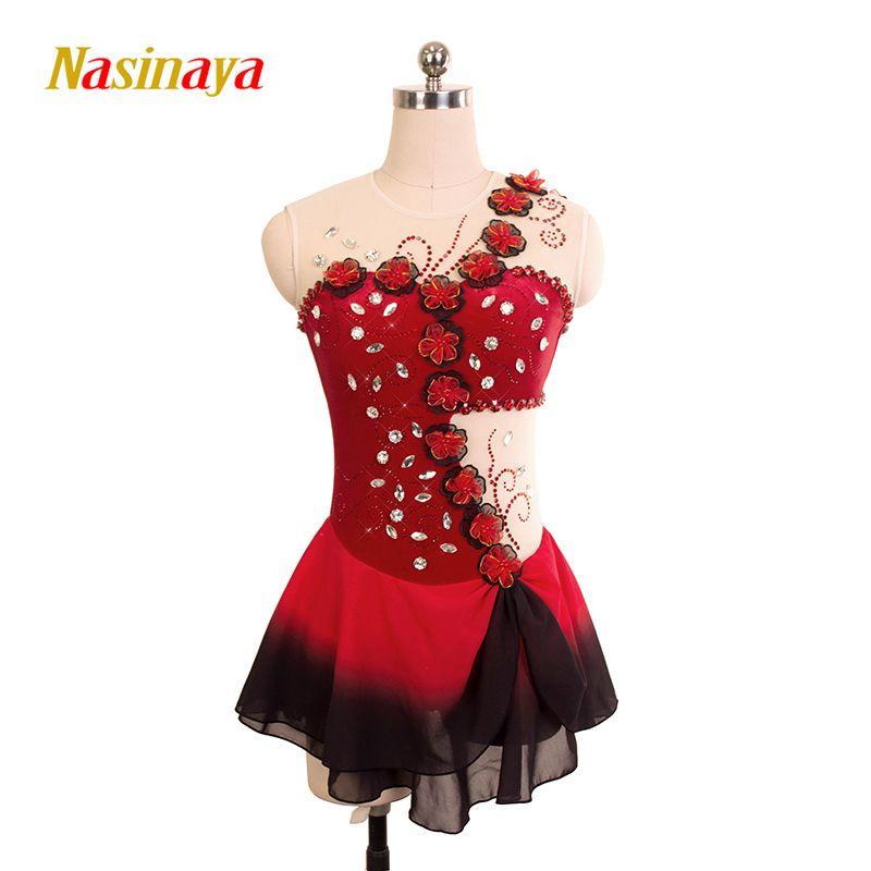 Nasinaya Eiskunstlauf Kleid Customized Wettbewerb Eislaufen Rock für Mädchen Frauen Kinder Patinaje Gymnastik Leistung 168