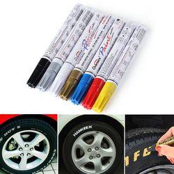 Coloré Étanche Stylo Voiture De Pneu De Pneu CD Métal Permanent marqueurs De Peinture Graffiti Marqueur Huileux Stylo Car Styling