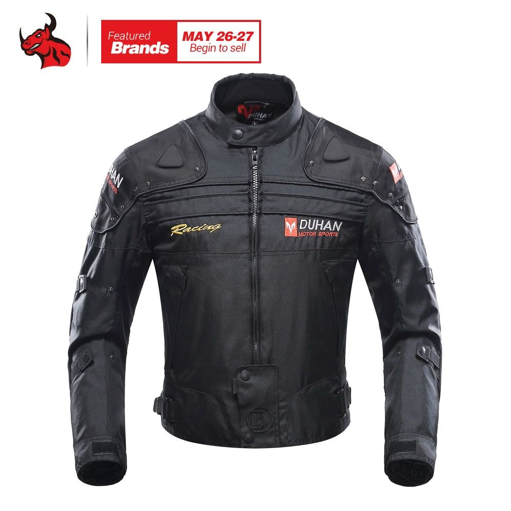 DUHAN Motorcycle Jacket Motorbike Riding Jacket Windproof Motorcycle Full Body Protective <font><b>Gear</b></font> Armor Autumn Winter Moto Clothing