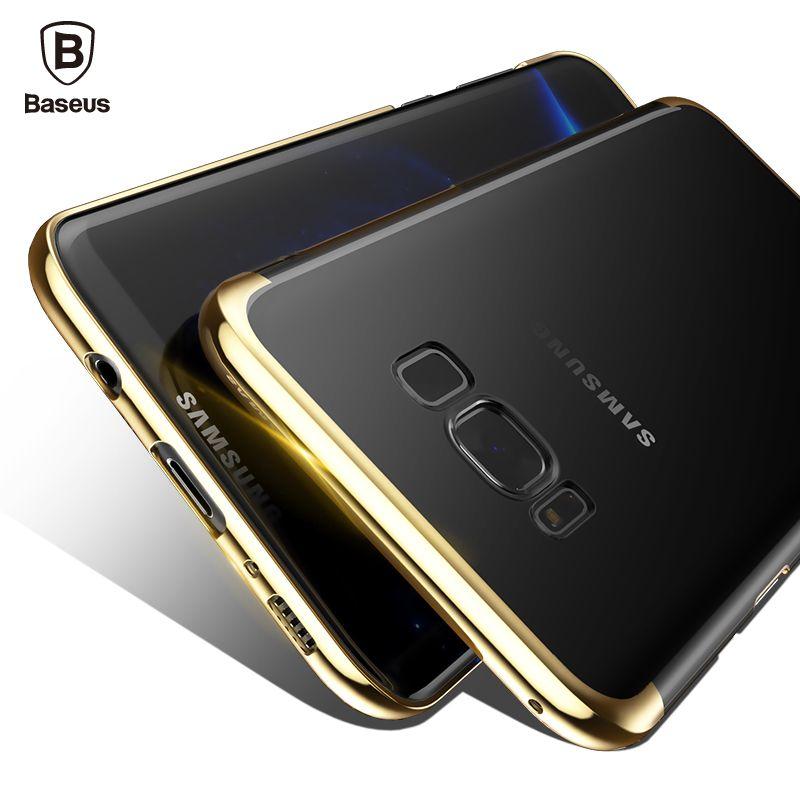 Baseus Cas De Luxe Pour Samsung Galaxy S8/S8 Plus galvanoplastie Dur PC Coque De Protection Couverture Arrière Pour Galaxy S8 Plus