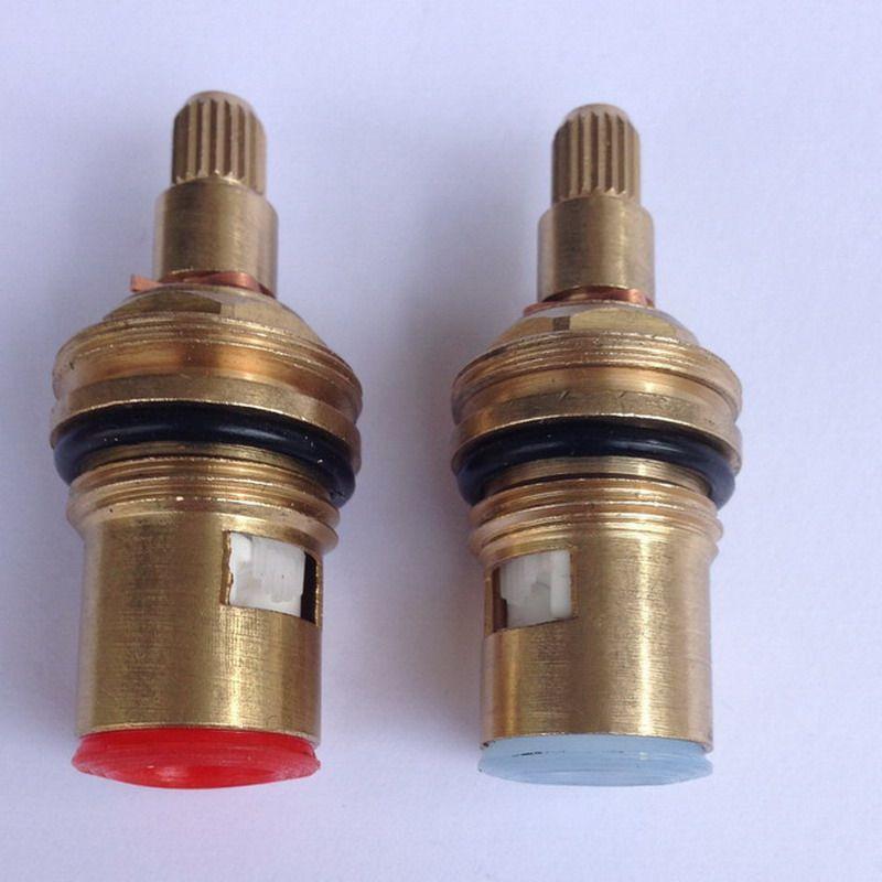 2 pcs 18mm laiton remplacement en céramique disque robinet vannes cartouches entrailles chaud froid pièces de rechange cuisine bassin salle de bains accessoire aba501