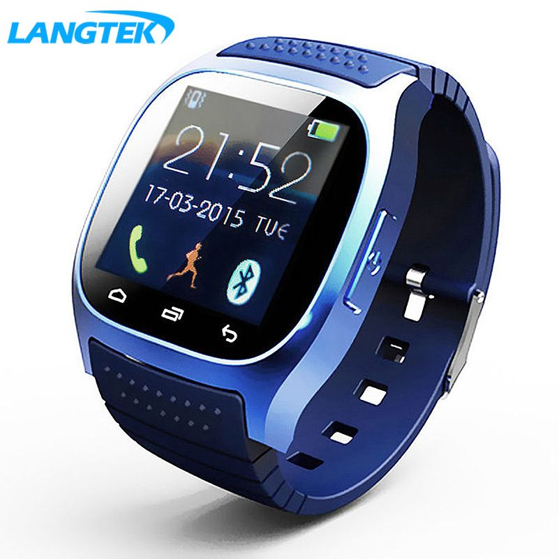 Langtek impermeabile SmartWatch Bluetooth Smart Watch con LED alitmeter lettore musicale pedometro в Android-смартфон