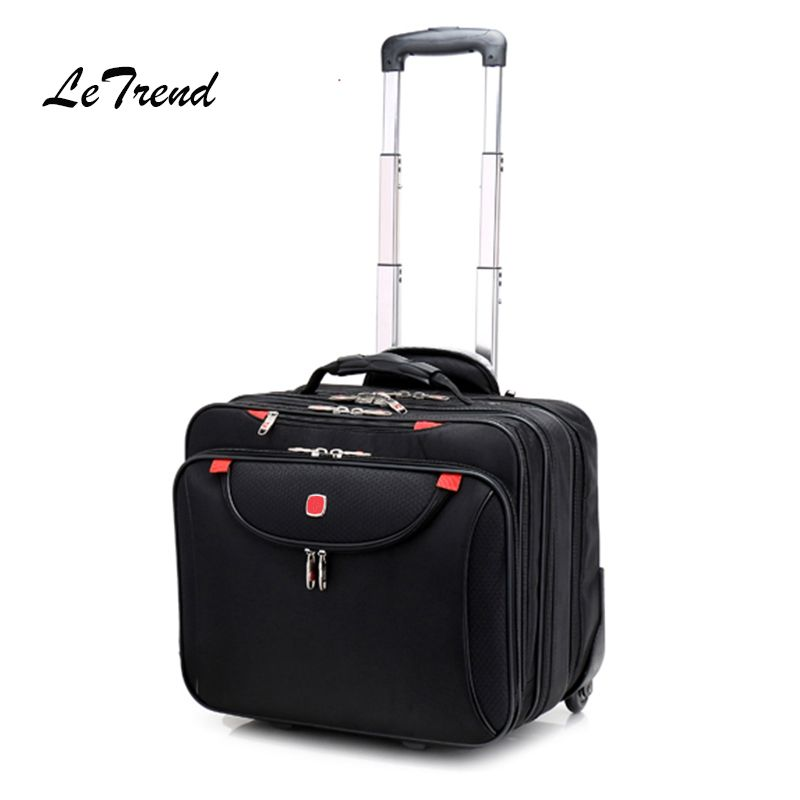 Fashion Multifunction Men Business Rolling Luggage 18 Inch Carry Ons Computer Trolley Travel Bag Women Suitcase Trunk