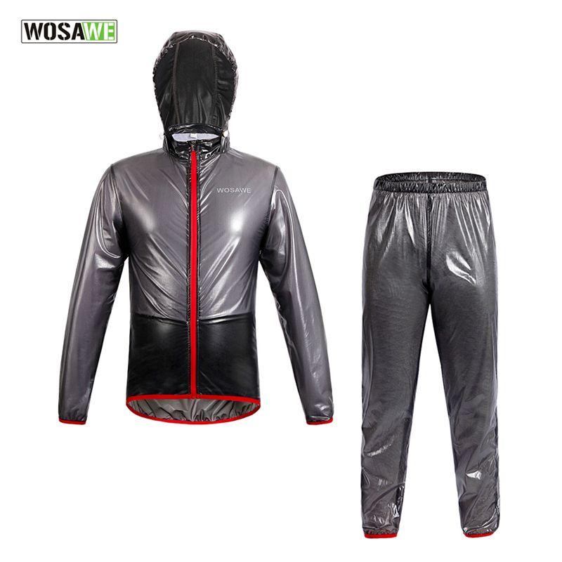 WOSAWE Regenmantel Radfahren Jacke Wasserdicht Winddicht Oberbekleidung Laufen MTB Rennrad Fahrrad Regen Jacken Hosen Suit Set Kleidung