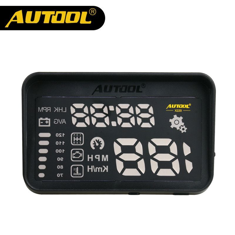 AUTOOL X220 Auto Speedometer HUD Car Head-Up Display Projector OBD II Vehicle Speeding Warning With Hood Clear Projection