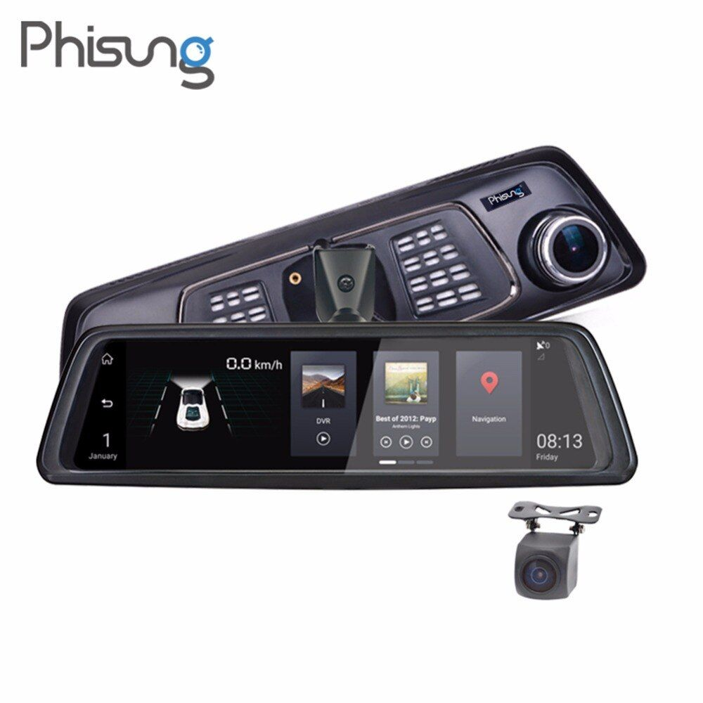 Phisung V9 4g Auto DVR 10in Touch FHD 1080 p Rückspiegel Kamera Nachtsicht Android GPS Dual objektiv Dash Cam