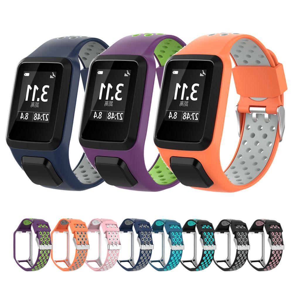 Bracelet de remplacement pour Tomtom Bracelet de montre bande de Silicone pour Tomtom Runner 3/aventurier/golfeur 2/Runner 2 Cardio/Spark 3 musique