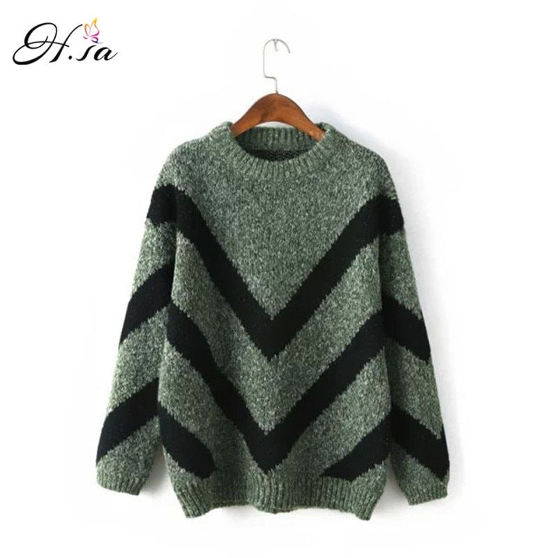 H.SA Women Sweaters and pullovers Christmas Sweaters Pull Femme Burderry Loose Jumpers Mujer Oversized Sweater Korean Pull femme