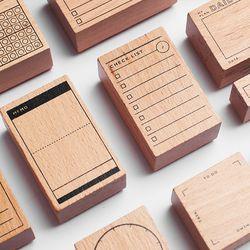 Journal Bois Personnalisé En Caoutchouc Timbres Scrapbooking, fond Timbre pour Mémo Tâche Vérifier Disque Garder