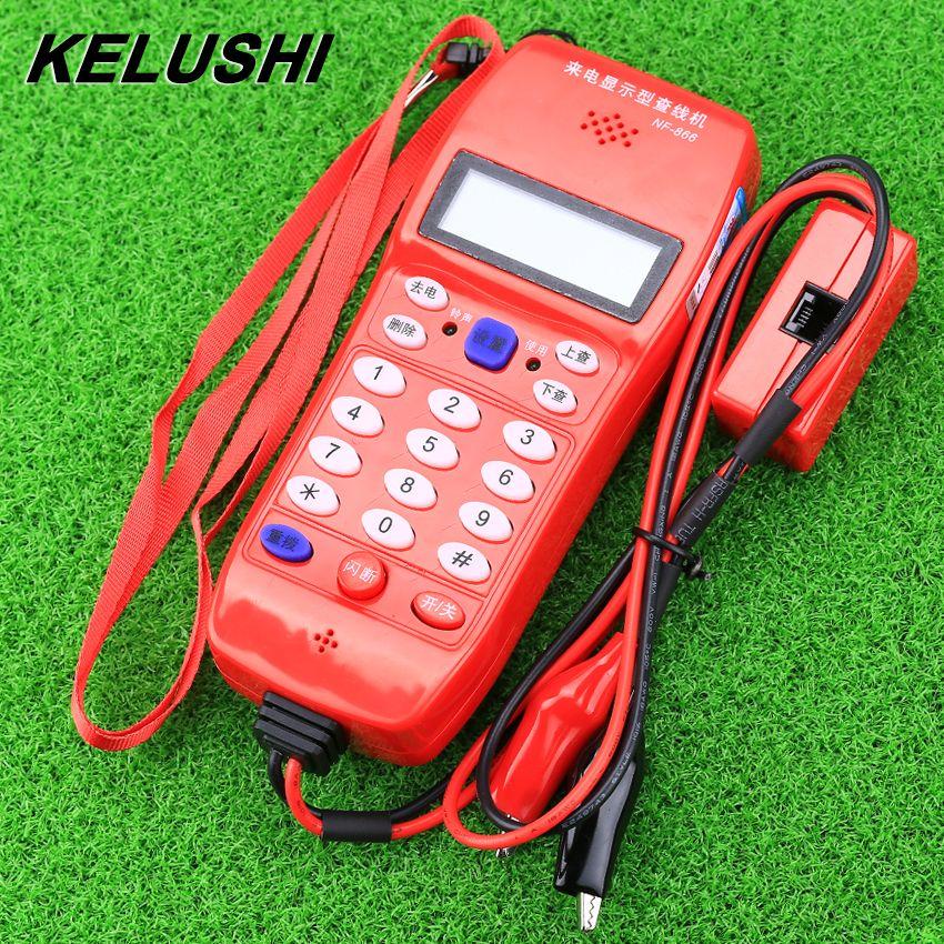 Kelushi NF-866 телефонной линии Кабельный тестер телефон волоконно-оптический инструмент проверить телефон DTMF Идентификатор вызывающего абонен...