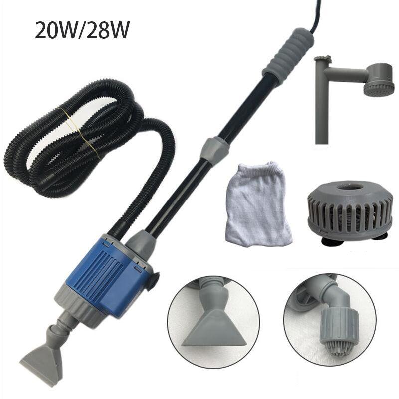 20/28 W électrique Aquarium pompe à changement d'eau outils de nettoyage changeur d'eau gravier nettoyant Siphon pour réservoir de poisson filtre à eau pompe