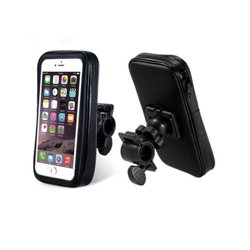 Universal Moto Vélo support de téléphone Pour l'iphone 7 Samsung S8 TISKE Soutien Mobile Téléphone Stand Avec Boîtier Étanche Sac