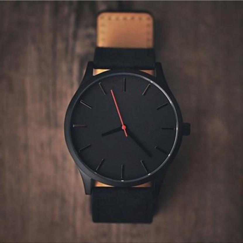 Reloj 2017 Fashion Large Dial Military Quartz Men Watch Leather Sport watches High Quality Clock Wristwatch Relogio Masculino T4
