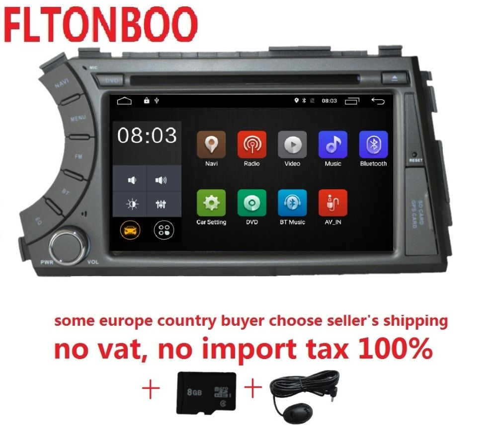 7 inch Android 8.1 for ssangyong Kyron Actyon 2din car dvd,gps wifi,radio,bluetooth,Steering wheel,free 8g map,mic,touch screen