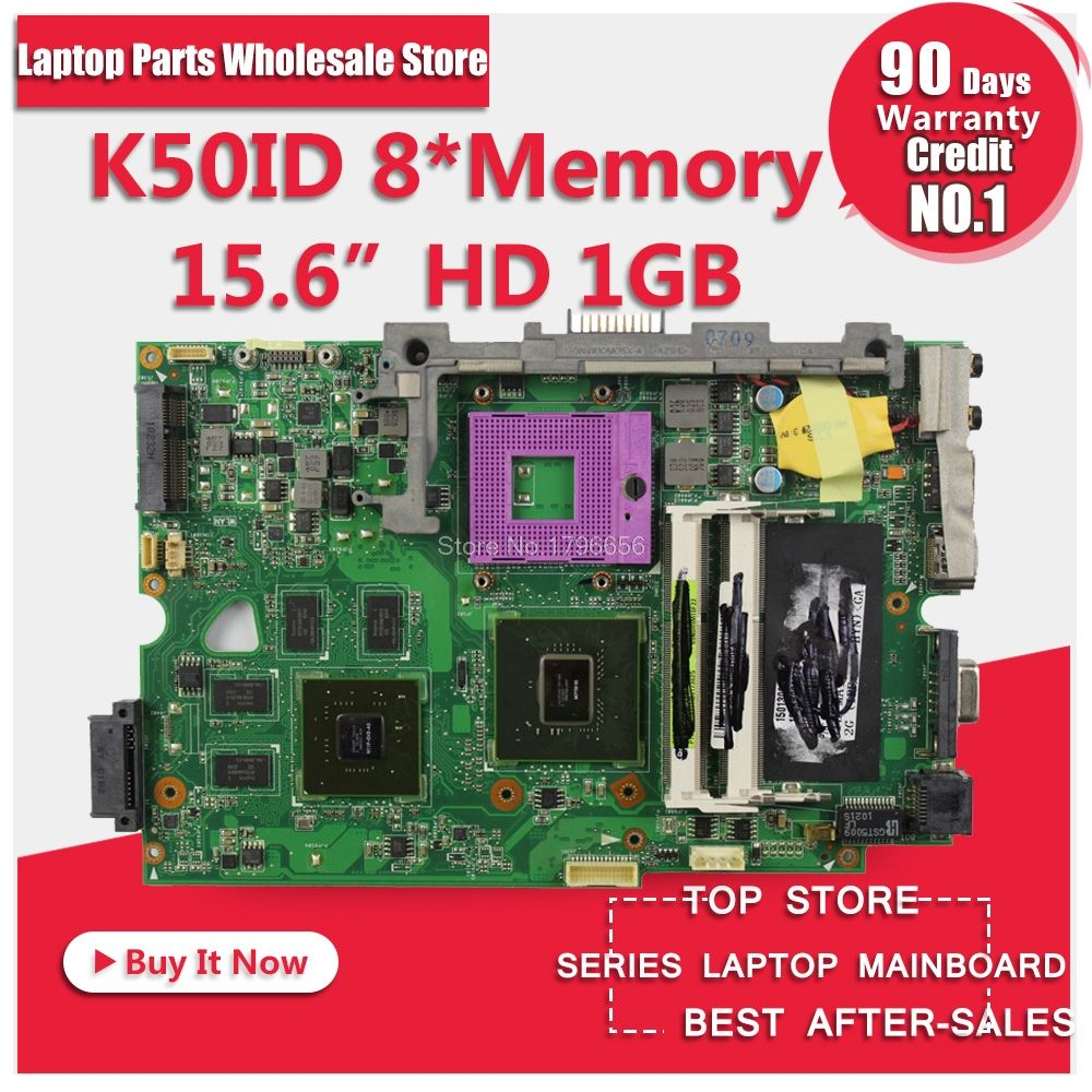 K50ID 1 gb 8 Mémoire pour Asus K50I K50IE X5DI K50ID conseil ordinateur portable carte mère carte mère Pour 60-NZ1MB1000-A03 69N0HUM10A03-01