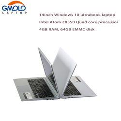 14-дюймовый ультрабук Atom X5 z8350 Quad Core 4 ГБ Оперативная память 64 ГБ EMMC Bluetooth HDMI WI-FI камеры Оконные рамы 10 ноутбук