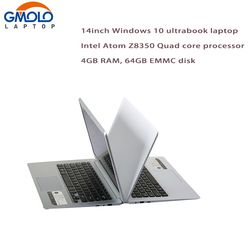14inch ultrabook Atom X5 Z8350 Quad core 4GB RAM 64GB EMMC Bluetooth HDMI  WIFI camera Windows 10 laptop