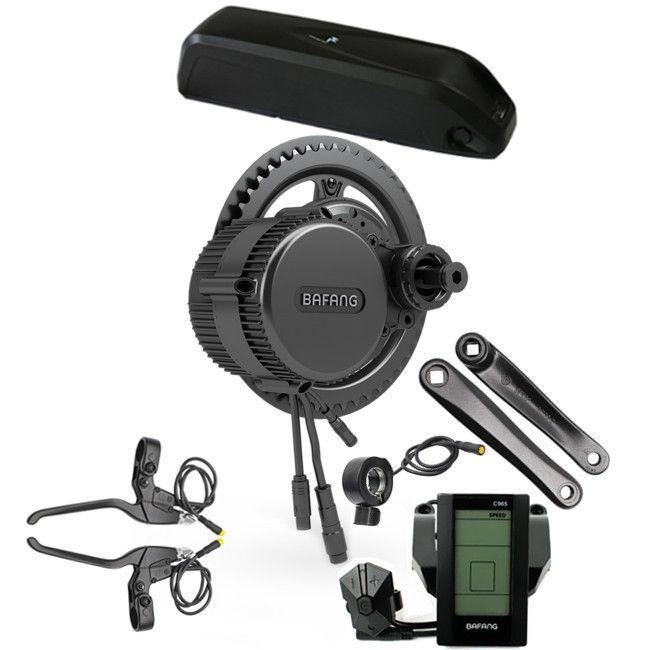 48V 500W BBS02B Bafang/8Fun mid drive electric motor kit +48V 10.4Ah Li-ion ebike battery